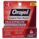 Orajel Toothache Pain Relief Maximum Strength 20% Liquid - 0.45oz