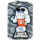 MediMates Asthma Alert Tag Plus Ball Chain - Silver,