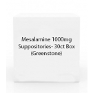 Mesalamine 1000mg Suppositories- 30ct Box (Greenstone)