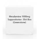 Mesalamine 1000mg Suppositories- 30ct Box (Greenstone)