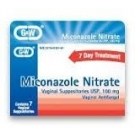 Miconazole Nitrate Vaginal Suppositories (100mg) - 7 Suppositories