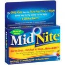 Midnite PM Drug-Free Sleep Aid Chewable Cherry Tablets - 30ct