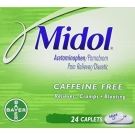 Midol Caffeine Free Cramp & Bloating Relief Caplets - 24ct