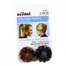 Scünci Mini Expandable Ponytailers, 2ct- 3 Packs (Colors May Vary)