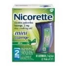 Nicorette Mini Lozenge 2mg, Mint- 81ct