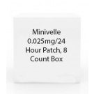 Minivelle 0.025mg/24 Hour Patch, 8 Count Box