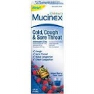 Mucinex Children's Cold, Cough and Sore Throat Liquid, Mixed Berry- 4oz