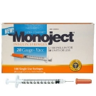Monoject Insulin Syringe 28 Gauge, 1/2cc, 1/2