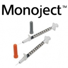Monoject Insulin Syringe Permanent Needle 30 Gauge, .5ml, 5/16