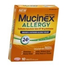 Mucinex Allergy, 24hr Indoor and Outdoor Allergy Relief Tablets 180mg, 10ct