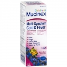 Mucinex Children's Multi-Symptom Cold & Fever Liquid, Berry- 4oz