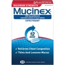 Mucinex Expectorant, 1200 mg, 12 Hour, Maximum Strength, Extended-Release Bi-Layer Tablets - 28 count