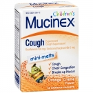Children's Mucinex Cough Expectorant and Suppressant, Mini-Melts, Orange Creme- 12ct