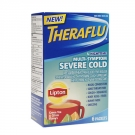 TheraFlu Nighttime Multi Symptom Severe Cold, Lipton Green Tea & Citrus Flavors- 6ct