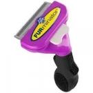 FURminator Long Hair DeShedding Tool for Cats, Purple, Large 2.65