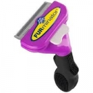 FURminator Short Hair DeShedding Tool for Cats, Purple, Large 2.65