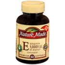 Nature Made Vitamin E 1000 I.U. Softgels 60ct