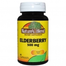 Nature's Blend Elderberry 500mg 60ct Capsules