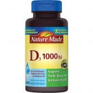 Nature Made Vitamin D-3 1000 IU Softgel - 100ct