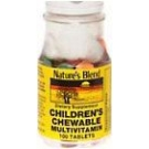 Natures Blend Childrens Chewable Multivitamin Tablets - 100