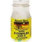 Natures Blend Super B Complex With C Capsules 100ct