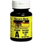 Natures Blend Vitamin A 8000 I.U. Softgels 100ct