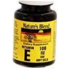 Natures Blend Vitamin E 100 I.U. Softgels 100ct