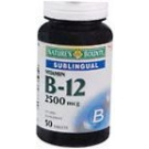 Natures Bounty Vitamin B-12 2500 mcg Tablets Sublingual - 50ct Bottle