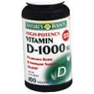 Natures Bounty Vitamin D 1000 IU Soft gel Tablets - 100