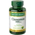 Nature's Bounty Cinnamon 1000 mg Dietary Supplement Capsules - 100ct