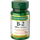 Nature's Bounty Vitamin B-2 100mg Tablets, 100ct