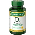 Nature's Bounty Vitamin D-3 1000 IU Softgels  - 250ct