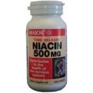 Niacin 500 mg TR (Time Release) Caplets - 100 Count Bottle