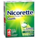Nicorette Nicotine Gum 4mg Fresh Mint - 100ct