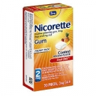 Nicorette Nicotine Gum 2mg Fruit Chill - 20ct