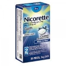 Nicorette Nicotine Gum 2mg White Ice Mint - 20ct