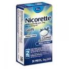 Nicorette Nicotine Gum 2mg White Ice Mint - 20ct