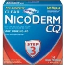 Nicoderm CQ Step 3 Clear Patch 7mg 14/Box