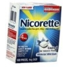 Nicorette 4mg Coated Tablets White Ice Mint Flavor - 100ct Box