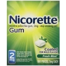 Nicorette Gum 2mg Fresh Mint - 100ct Box