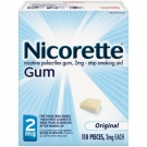 Nicorette Gum 2mg Original Starter Kit - 110ct Box