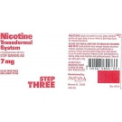 Nicotine Transdermal System Step 3 (Generic) - 7mg/24HR Patch 14ct