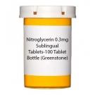 Nitroglycerin 0.3mg Sublingual Tablets-100 Tablet Bottle (Greenstone)