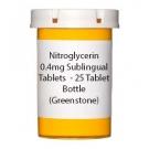 Nitroglycerin 0.4mg Sublingual Tablets  - 25 Tablet Bottle (Greenstone)