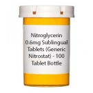 Nitroglycerin 0.6mg Sublingual Tablets- 100 Tablet Bottle