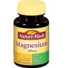 Nature Made Magnesium 250mg Tablets 100ct