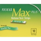 Nova Max Plus Ketone Test Strips- 10ct