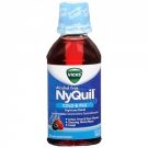 Vicks Nyquil Cold & Flu Relief Nighttime Liquid, Berry Flavor, Alcohol Free- 12oz