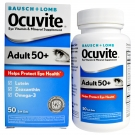 Ocuvite Adult 50+ Lutein & Omega 3 Eye Vitamin & Mineral Supplement Softgels - 50ct