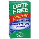Opti-Free Express Contact Lenses Rewetting Drops - 0.33 fl oz